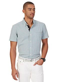 Nautica Check Seersucker Short Sleeve Shirt