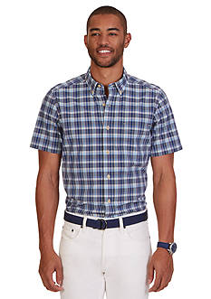 Nautica Classic Fit Union Plaid Short Sleeve Shirt