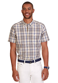 Nautica Classic Fit Plaid Short Sleeve Shirt