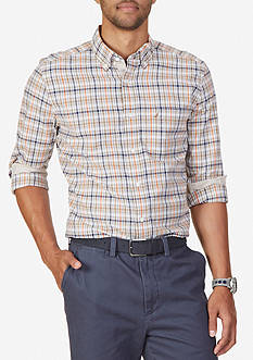 Nautica Classic Fit Biking Plaid Shirt