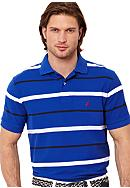 Nautica Big & Tall Stripe Deck Polo