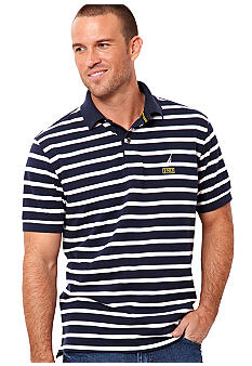 Nautica Big & Tall Nautical Stripe Knit Polo