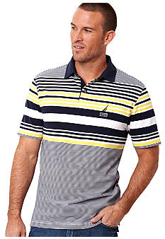 Nautica Big & Tall Engineered Stripe Knit Polo