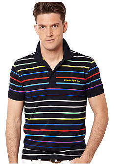 Nautica Big & Tall Rainbow Stripe Polo