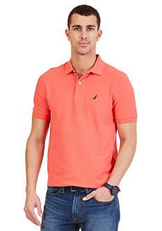 Nautica Big & Tall Solid Performance Pique Polo Shirt