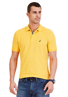 Nautica Big & Tall Solid Performance Pique Polo Shirt