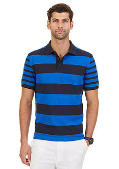 Nautica Big & Tall Striped Pique Polo Shirt