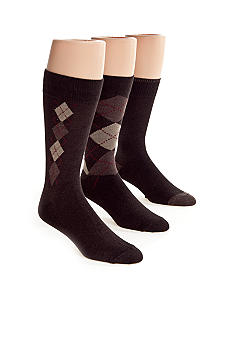 Nautica 3-Pack Classic Argyle Casual Socks