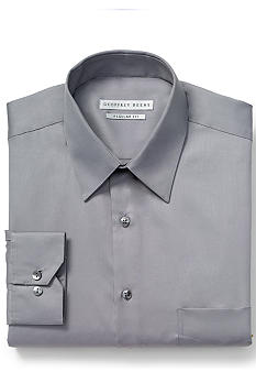 Geoffrey Beene Sateen Wrinkle Free Regular Fit Dress Shirt