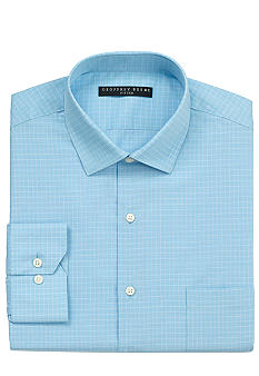 Geoffrey Beene Wrinkle Free Fitted Check Dress Shirt