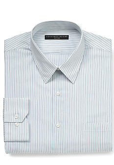 Geoffrey Beene Wrinkle Free Fitted Striped Dress Shirt