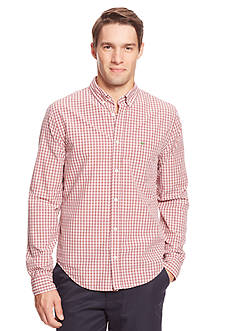 Lacoste Long Sleeve Mini Plaid Shirt