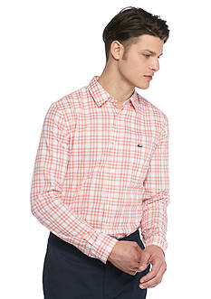 Lacoste Long Sleeve Small Check Woven Shirt