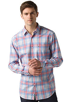 Lacoste Long-Sleeve Plaid Button-Front Woven Shirt
