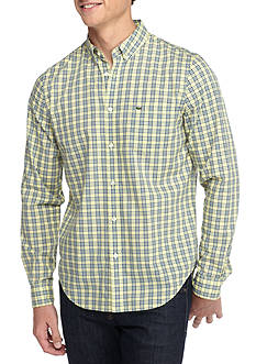 Lacoste Long Sleeve Multi Color Plaid Button Down Shirt