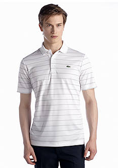 Lacoste Golf Short Sleeve Ultra-Dry Stripe Polo Shirt