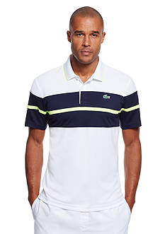 Lacoste Short Sleeve Ultra Dry Striped Polo Shirt