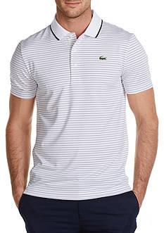 Lacoste Sport Golf Short Sleeve Ultradry Fine Stripe Polo Shirt