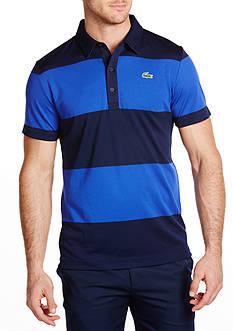 Lacoste Sport Golf Short Sleeve Ultradry Bold Stripe Polo