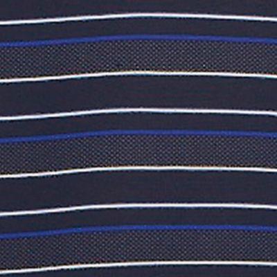 Men: Lacoste Designer: Blue Lacoste Sport Stripe Golf Polo Shirt