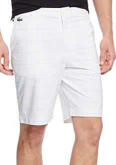 Lacoste Golf Check Pattern Bermuda Shorts