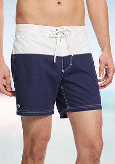 Lacoste Colorblock Swim Trunks