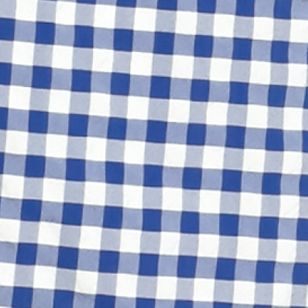 Men: Lacoste Designer: Delta Blue/White Lacoste Taffeta Gingham Swim Trunks
