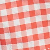 Men: Swimwear Sale: Sandalwood/White Lacoste Taffeta Gingham Swim Trunks