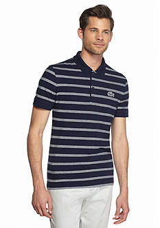 Lacoste Short Sleeve Striped Caviar Croc Polo Shirt
