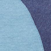 Mens Designer Polo Shirts: Stratus Chine/ Philippines Blue Lacoste Colorblock Polo with Raglan Sleeve Polo