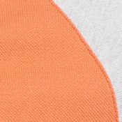 Mens Designer Polo Shirts: Fall Orange/ Silver Chine Lacoste Colorblock Polo with Raglan Sleeve Polo