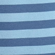 Mens Designer Polo Shirts: Naval Blue/ Admiral Lacoste Cotton Pique Bar Stripe Polo