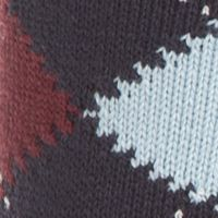 Mens Casual Socks: Navy Blue/Cloud-Bilberry Lacoste Argyle Socks - Single Pair