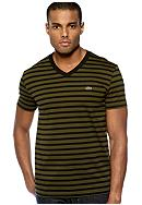 Lacoste™ Stripe V-Neck Tee