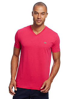 Lacoste Short Sleeve V-Neck Pima Jersey Tee Shirt