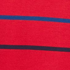 Mens Short Sleeve Polo Shirts: Tokyo Red/ Navy Blue Lacoste Super Light Stripe Sport Cotton Polo