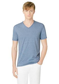 Calvin Klein Jeans Short Sleeve Modern Slub V-Neck