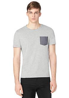 Calvin Klein Jeans Short Sleeve Chambray Pocket Tee