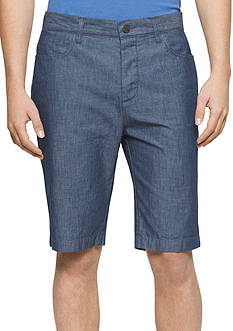 Calvin Klein Jeans Chambray 5-Pocket Shorts