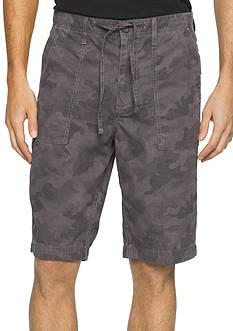 Calvin Klein Jeans Poplin 10.5-Inch Utility Camo Shorts