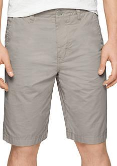 Calvin Klein Jeans Flat Front Poplin 10.5-in. Shorts