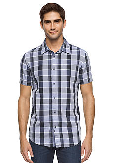 Calvin Klein Jeans Short Sleeve Open Space Check Woven Shirt