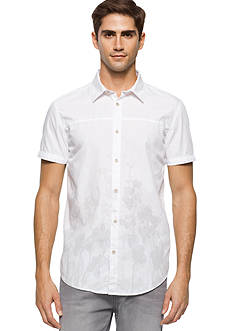 Calvin Klein Jeans Short Sleeve Faded Floral Print Shirt