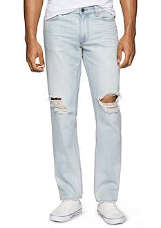 Calvin Klein Jeans Slim Straight Destructed Jeans