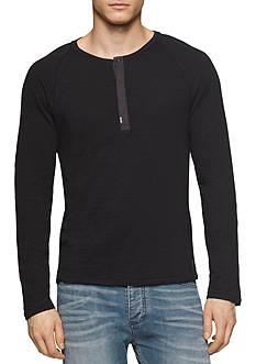 Calvin Klein Jeans Slim-Fit Slub Henley Shirt
