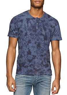 Calvin Klein Jeans Short Sleeve Beach Tie Dye Henley Shirt