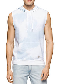Calvin Klein Jeans Allover Printed Sleeveless Hoodie
