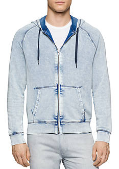 Calvin Klein Jeans Acid Wash Full Zip Hooded Sweatshirt