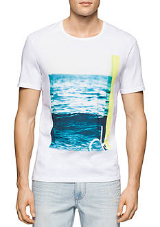 Calvin Klein Jeans The Wave Crew Neck Graphic Tee