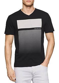 Calvin Klein Jeans Short Sleeve Gradient Block V-Neck Graphic Tee